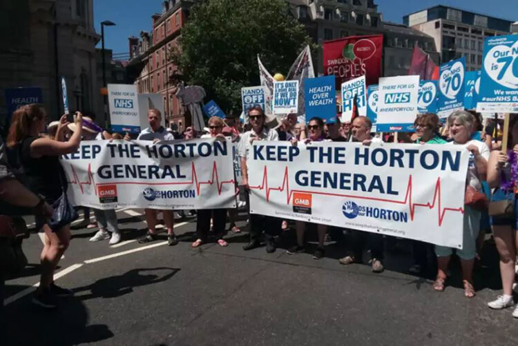 Keep the Horton General campaigners with new banner