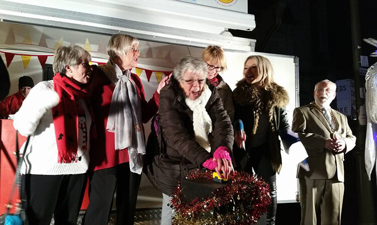 at Banbury's Christmas Lights ceremony, 27 November 2016