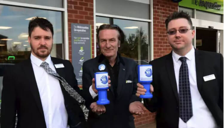 Banbury area Co-op stores are having Horton Hospital collecting tins. Mike Large, Ruscote Co-op manager (left) KTHG chair Keith Strangwood (centre) and Darren Bott, team manager, Hanwell Fields Co-op (right) with the new KTHG collection tins.