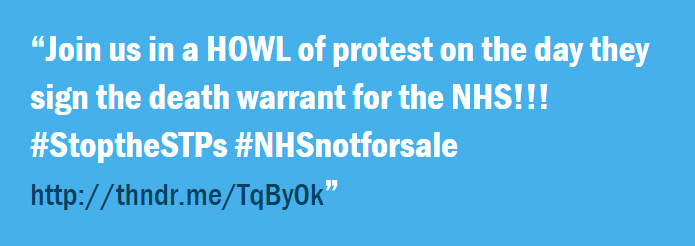 Howl of Protest for the NHS
