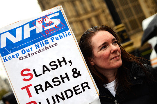 KTHG campaigner Kate Spencer at 2nd reading of NHS Reinstatement Bill
